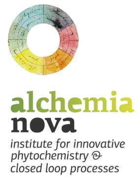 logo of alchemia nova insitute for innovative phytochemistry and closed loop process