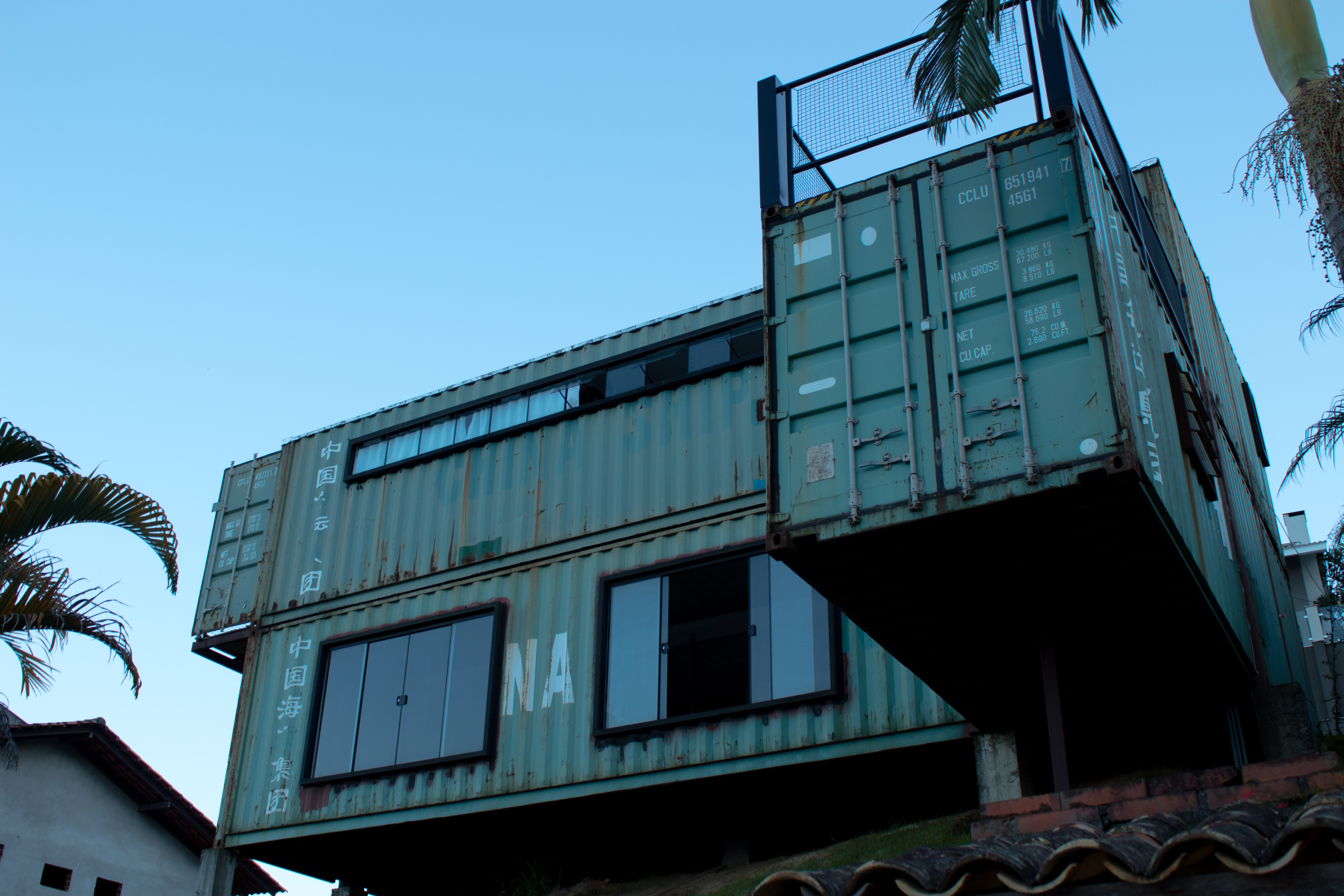 Container Housing with big windows